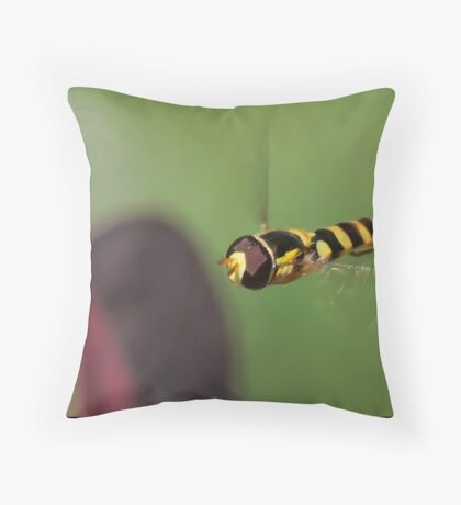 Hover Fly Throw Pillow