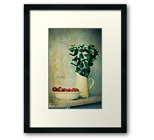 « Jug and strawberries » Framed Print