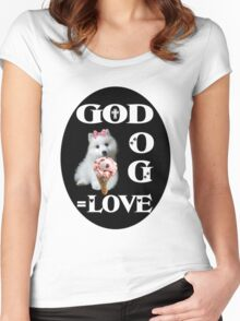 ❀◕‿◕❀GOD +DOG=LOVE ..TEE SHIRT ❀◕‿◕❀ Women's Fitted Scoop T-Shirt