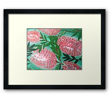 Red Bottles  Framed Print
