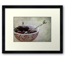 « Cherries for the deer » Framed Print
