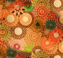 Tiled Autumnal Design Sticker