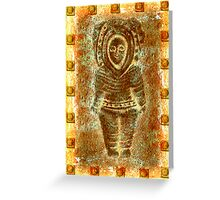 latin Sculpture Greeting Card
