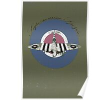 Vintage Look Fighter Plane Supermarine Spitfire Poster