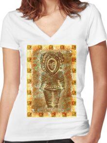 latin Sculpture Women's Fitted V-Neck T-Shirt