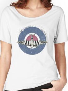 Vintage Look Fighter Plane Supermarine Spitfire Women's Relaxed Fit T-Shirt