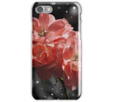 Roses and Falling Snow iPhone Case/Skin