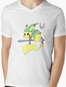 Pika Link Mens V-Neck T-Shirt