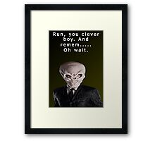 Run, You Clever....Oh Framed Print