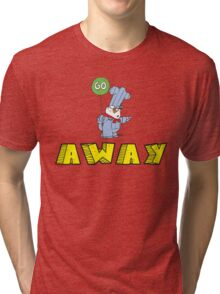 Go Away Angry Cat Tri-blend T-Shirt