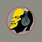 Lenin with Headphones iPad Case by GayRiot