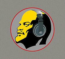 Lenin with Headphones iPad Case by GayRiot