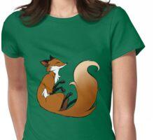 Cute Sleeping Fox Womens Fitted T-Shirt