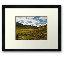 BRAEMAR - GLEN DERRY IN SUMMER Framed Print