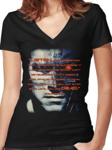 Dark Machine Women's Fitted V-Neck T-Shirt