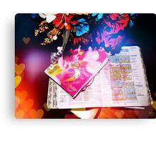 Bible Study Canvas Print