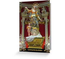 Santa Marija Greeting Card