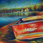 Lund boat on Lake Harriet. by Heather Schuer
