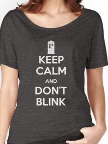 Dr Who - Keep Calm Don't Blink Women's Relaxed Fit T-Shirt