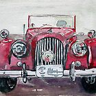 Morgan Red Car by BAR-ART