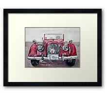 Morgan Red Car Framed Print