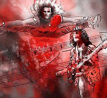 David Lee Roth and Eddie Van Halen Jump by Goodaboom