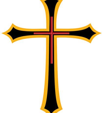 Golden Cross Sticker