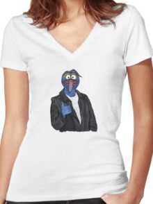 The Gonz! Women's Fitted V-Neck T-Shirt