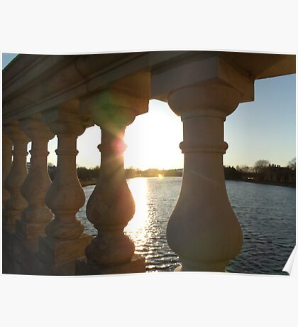 Sunset on the Charles River Poster
