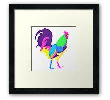 Psychedelic Chicken Framed Print
