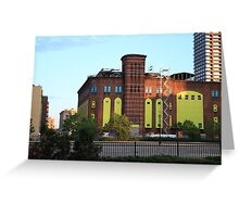 Old H&M Powerhouse Jersey City NJ Greeting Card