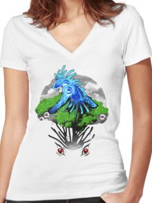 Forest God Women's Fitted V-Neck T-Shirt
