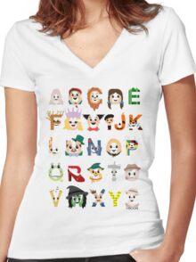 Oz-abet (an Oz Alphabet) Women's Fitted V-Neck T-Shirt