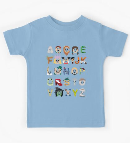 Oz-abet (an Oz Alphabet) Kids Tee
