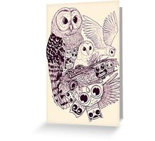 Owl Movement Greeting Card