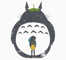 Totoro Silhouette One Piece - Short Sleeve