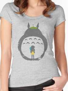 Totoro Silhouette Women's Fitted Scoop T-Shirt