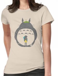 Totoro Silhouette Womens Fitted T-Shirt