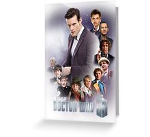 doctor who - 50 years of... Greeting Card