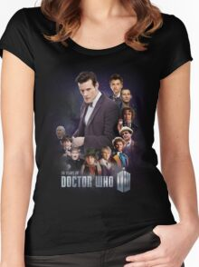 doctor who - 50 years of... Women's Fitted Scoop T-Shirt