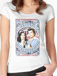 Conway Twitty, Loretta Lynn. Country Music. Nashville Women's Fitted Scoop T-Shirt