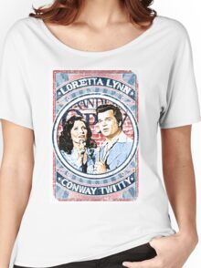 Conway Twitty, Loretta Lynn. Country Music. Nashville Women's Relaxed Fit T-Shirt