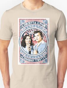Conway Twitty, Loretta Lynn. Country Music. Nashville Unisex T-Shirt