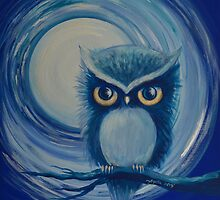 Blue Moon Owl by Agata Lindquist