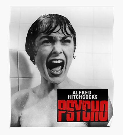 Alfred Hitchcock's Psycho Poster