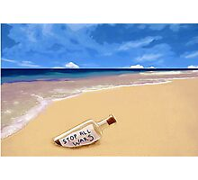 Message in the bottle Photographic Print
