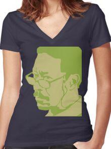 Lester Freeman Women's Fitted V-Neck T-Shirt