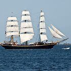 George Stage a Fully Rigged Sailing Ship. by imagic