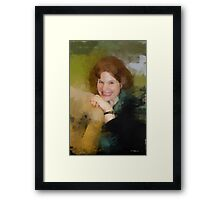 Irish Harpist Watercolor Framed Print
