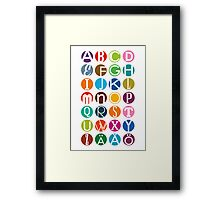 ABC - In Swedish now Framed Print